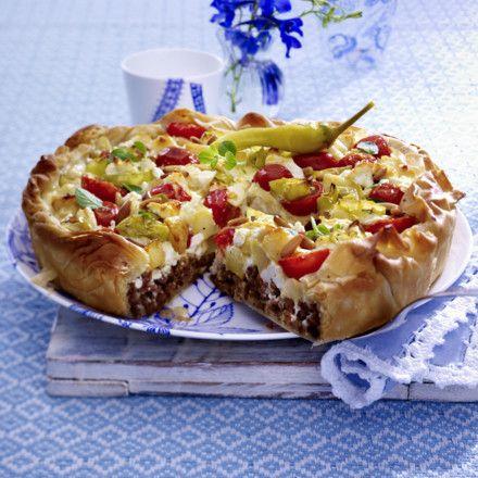 Griechischer Kartoffel-Hack-Kuchen Rezept