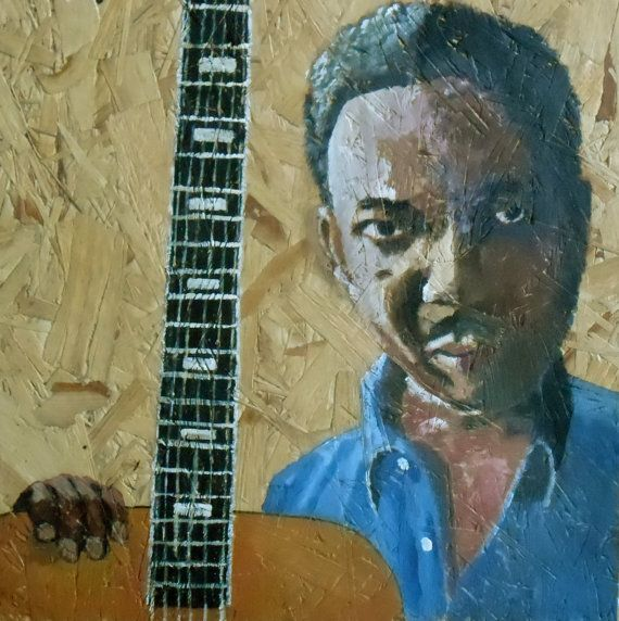 Muddy Waters Original Acrylic Painting Blues by JulianLovegroveArt, £90.00