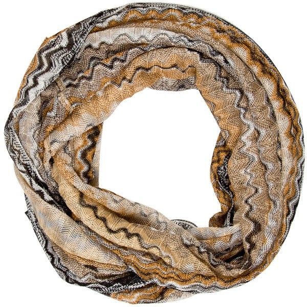 Pre-owned Missoni Patterned Infinity Scarf ($95) ❤ liked on Polyvore featuring accessories, scarves, black, loop scarf, missoni scarves, tube scarves, circle scarf and colorful scarves