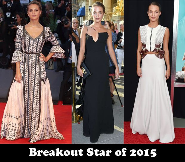 Breakout Star of 2015 - Alicia Vikander