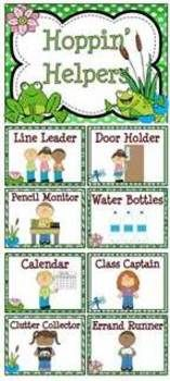 Hoppin' Helpers Frog Themed Classroom Jobs Display  Clip Chart