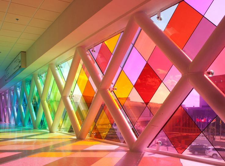 Harmonic Convergence installation by Christopher Janney at Miami Airport.