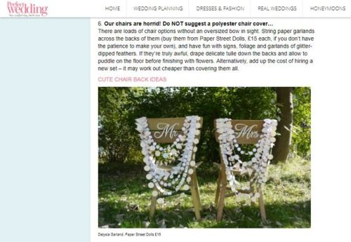 7 Easy Ways To Style Your Wedding Venue  Our Delysia chair decorations on planyourperfectwedding.com!