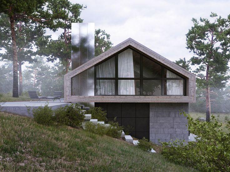 Forest House / Aleksandra Nuzhnaya – nowoczesna STODOŁA | wnętrza & DESIGN | projekty DOMÓW | dom STODOŁA