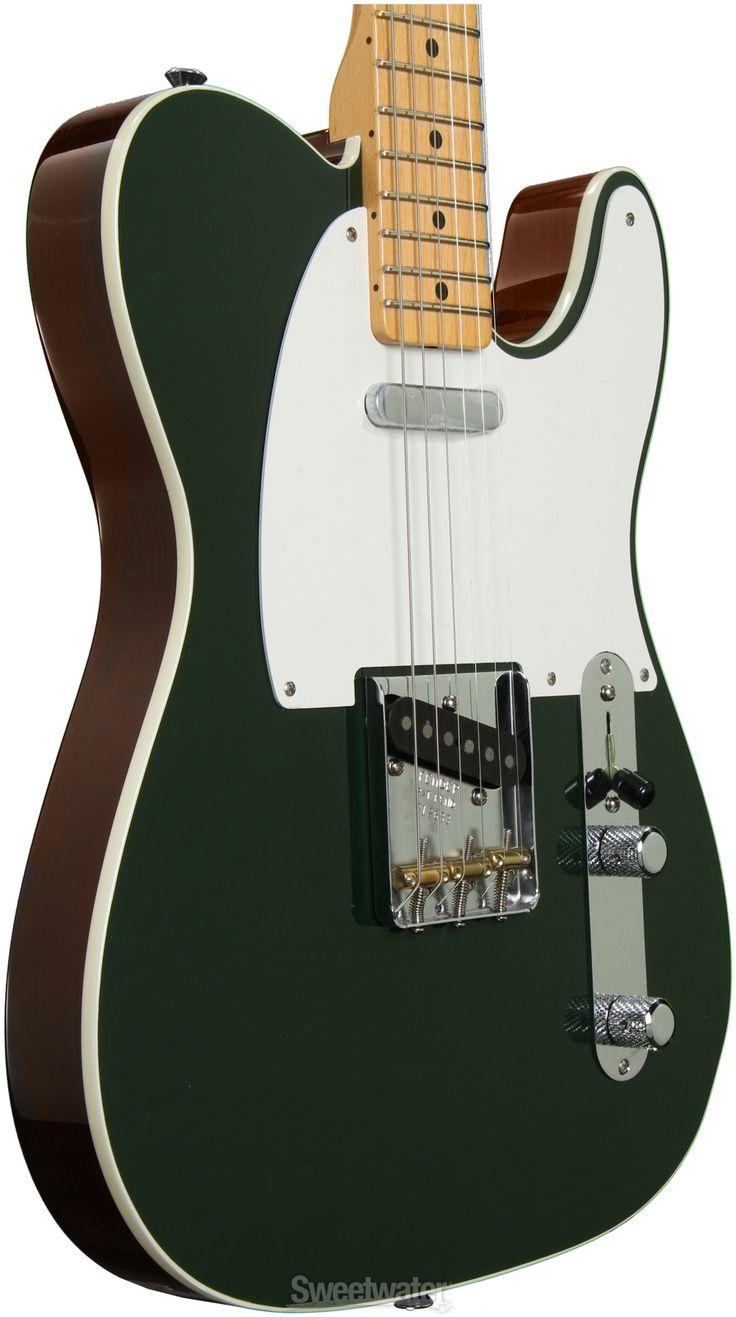Fender Custom shop top bound dual tone Tele in dark green/walnut
