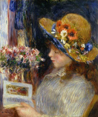 Joven leyendo (1886). Pierre-Auguste Renoir.