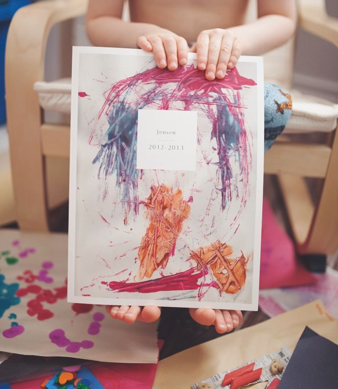 Archiving Your Child's Art with Artifact Uprising softcover photo book //  Project by Paper Deer Photography.