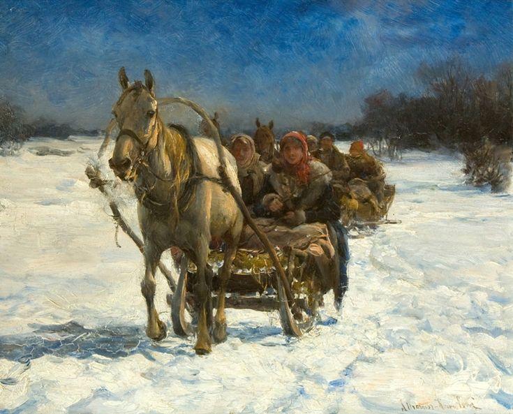 """Alfred Wierusz-Kowalski, """"Sanna"""", ok. 1900, olej na desce; 17,5 x 22 cm, sygn. """"A. Wierusz-Kowalski"""", ze zbiorów kolekcji prywatnej (źródło: materiały prasowe organizatora)"""
