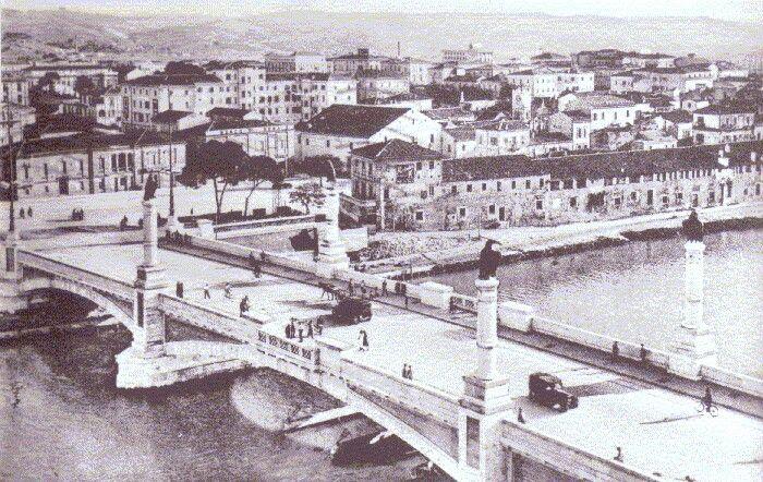Vecchia foto del ponte di Pescara