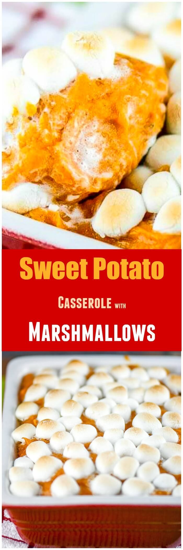 Sweet Potato Casserole with Marshmallows via @flavormosaic
