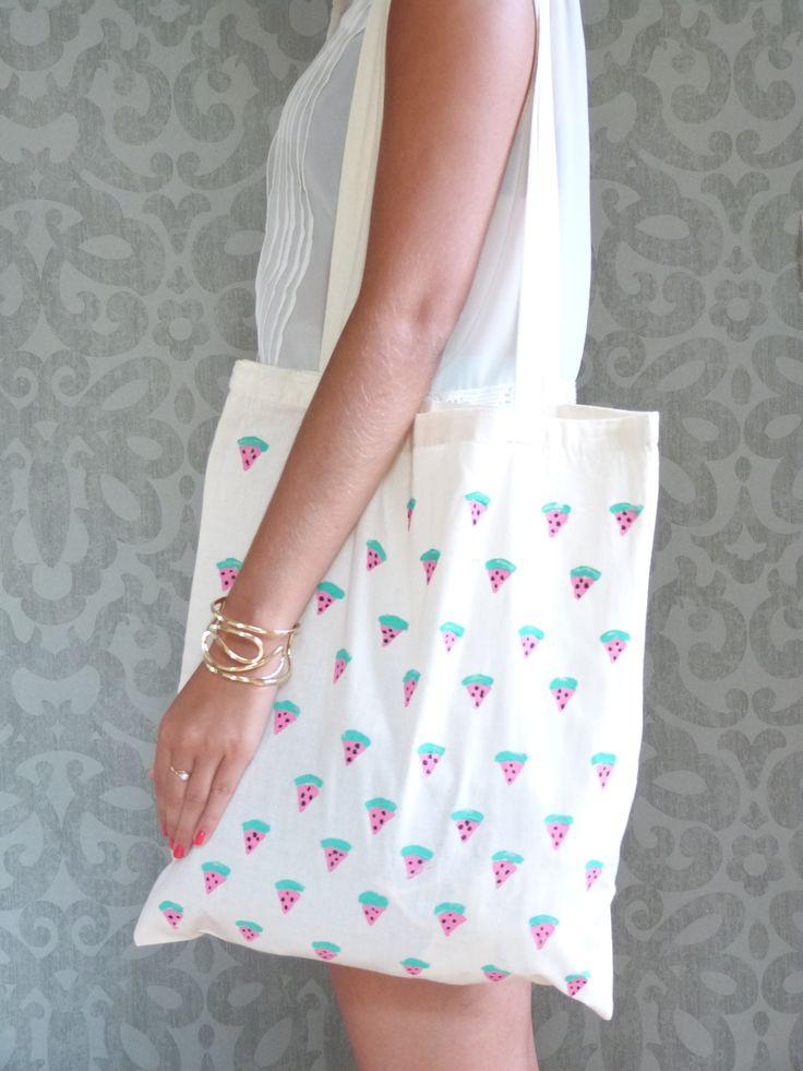 DIY Mode // Le Tote Bag Pastèque // La Fabrique Pailletée ♡
