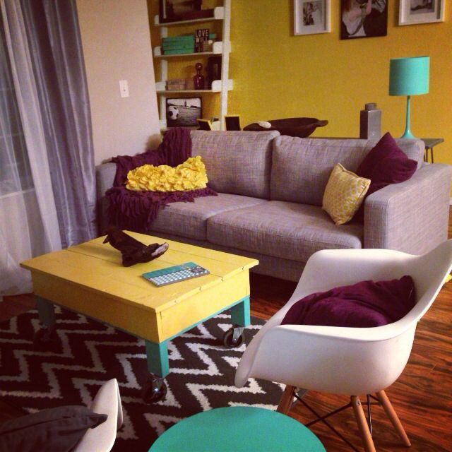 Purple Teal Yellow Living Room   Google Search Part 64