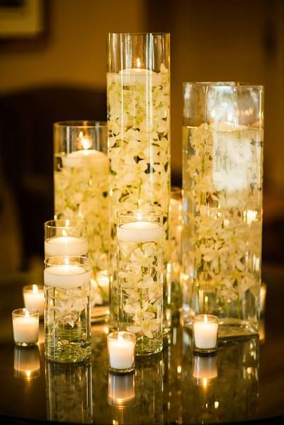 Orchids And Floating Candles My Decor Pinterest
