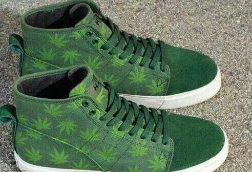 Weed Leaf Nike Shoes