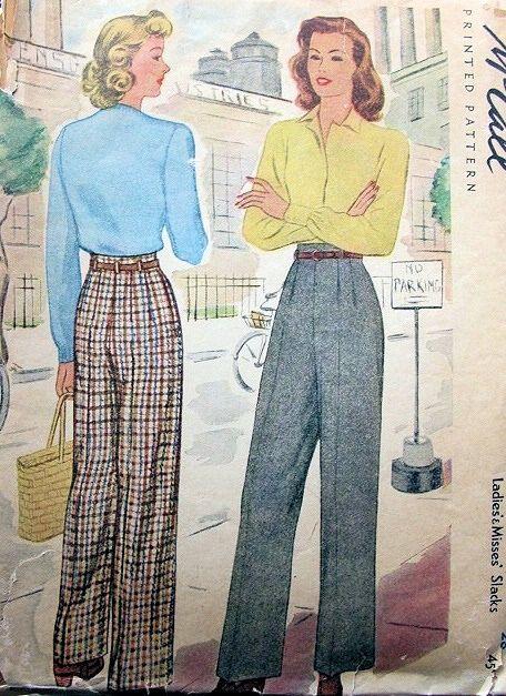 """""""Hepburn"""" trousers.  Vintage McCall"""
