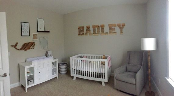 Pallet letters for nursery reclaimed wood letters large by RayMels