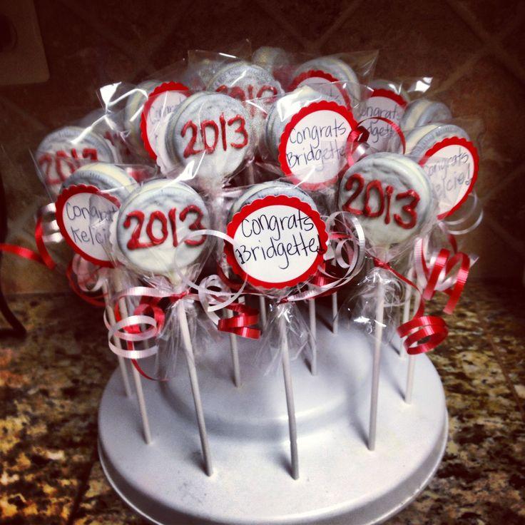 2013 Graduation Chocolate Dipped Oreos | Cake On A Stick ...
