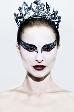 Black Swan, would be fun to do this makeup -- DUH this is what I will be for Halloween. duh duh duh