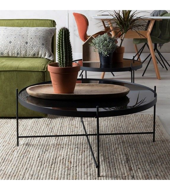 Table Basse Side Table Cupid Black Xxl Zuiver Table Basse Table Basse Tendance Table Basse Design