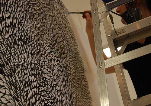 thais beltrame - mural em processo
