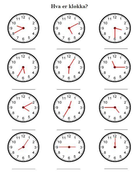 Hva er klokka? Practice | Less Commonly Taught