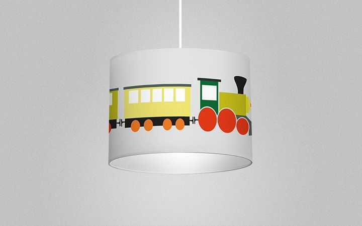 Leuchte Trains - Designer Tapeten DecorPlay