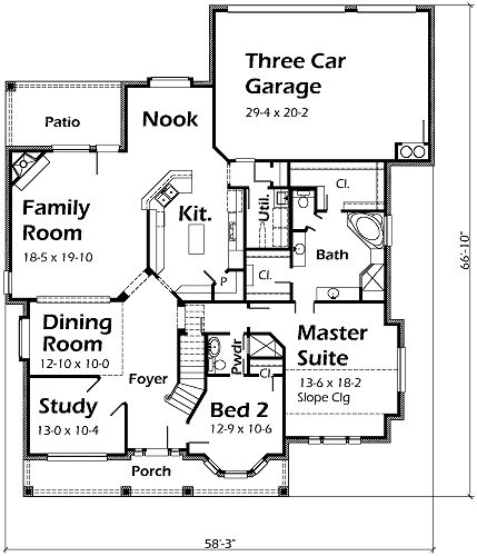 44 best house plans images on pinterest house floor plans house plans by korel home designs home designcrosswordfloor malvernweather Choice Image
