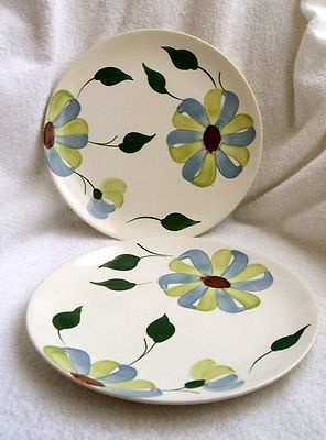 2 Blue Ridge Southern Potteries Whirligig Dinner Plates 10 1/4 inches. Free Shipping & 54 best Blue Ridge Dinnerware images on Pinterest | Blue ridge ...