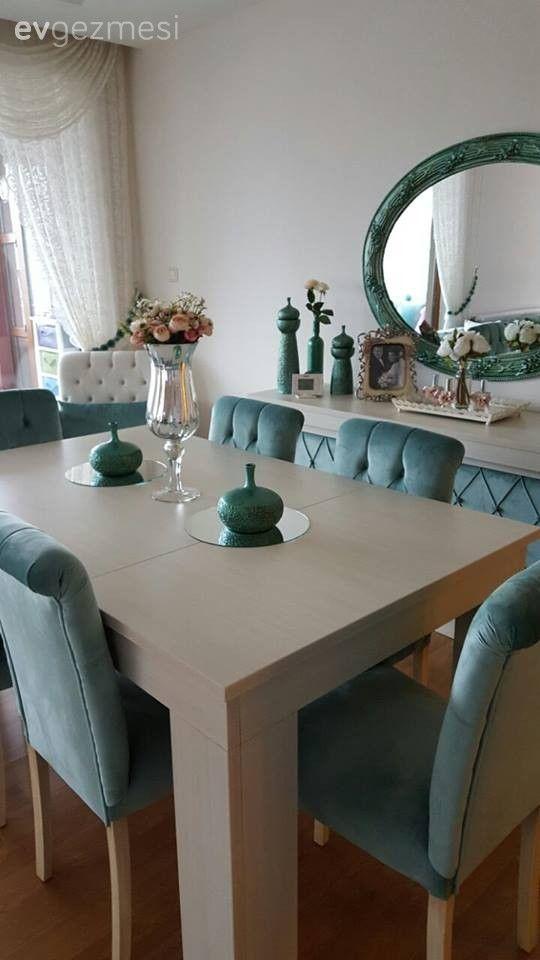 Salon, Yemek Odası, Ayna, Turkuaz, Koltuk yenileme