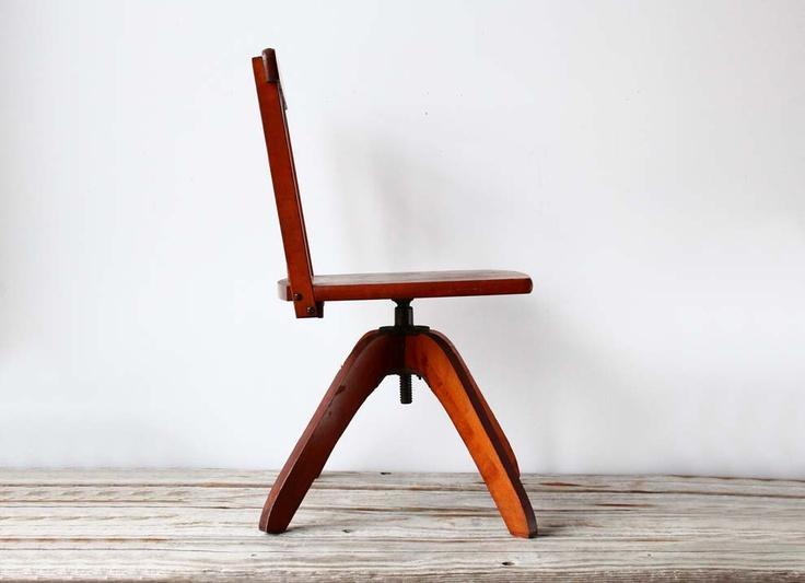 Modern Child's Desk Chair. $55.00, via Etsy.