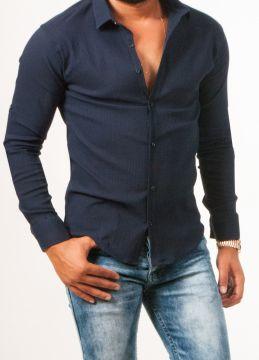 Lacivert Yeni Tarz Erkek Gömlek