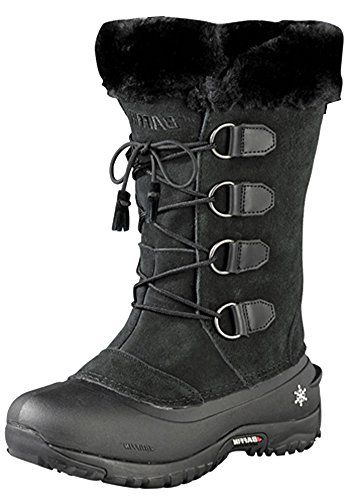Baffin Women's Kristi Insulated Suede Winter Boot,Black,7 M US *** Click image for more details.