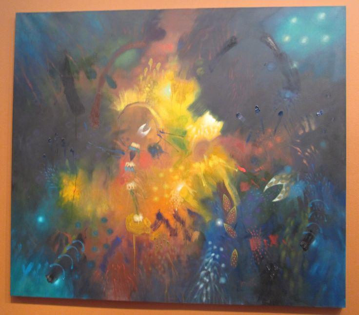 Asomo y aureola Óleo sobre lienzo 150 x 170 cms 1998 Colección privada