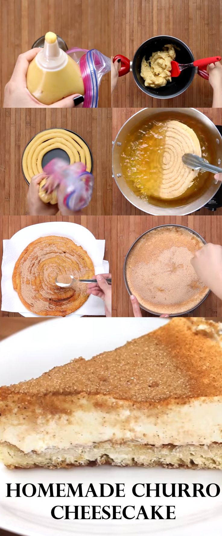 This is a good addition on any occasion or just prepare in advance for when friends and family visit. Check the video and written instructions here==> | Homemade Churro Cheesecake | http://gwyl.io/homemade-churro-cheesecake/