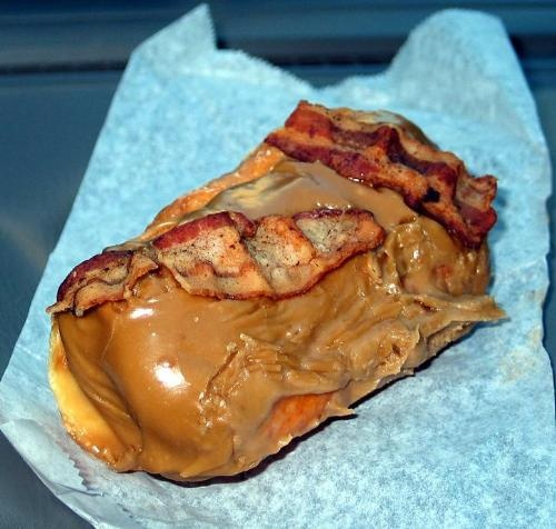 Bacon Maple Bar - VooDoo Doughnuts, Portland/Eugene, OR    LOVE!!!!!