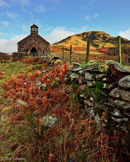 Buttermere Church, Lake District, Cumbria, England