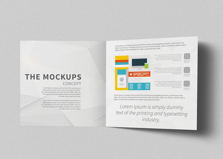 This is Bifold Square Brochure Mockups Free Download, design for standard Square size 21x21 cm. Using a smart object, very easy to use and Free.