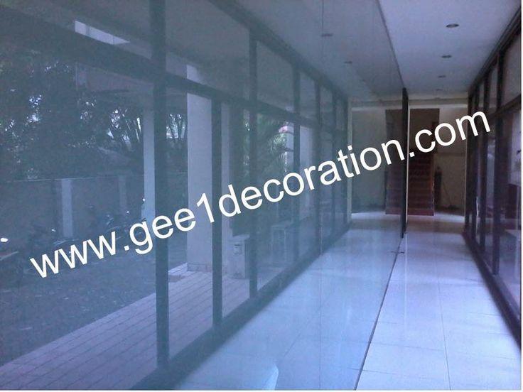 dinding partisi kaca, dinding partisi kusen aluminium: dinding partisi pembatas sekat ruangan aluminium, ...