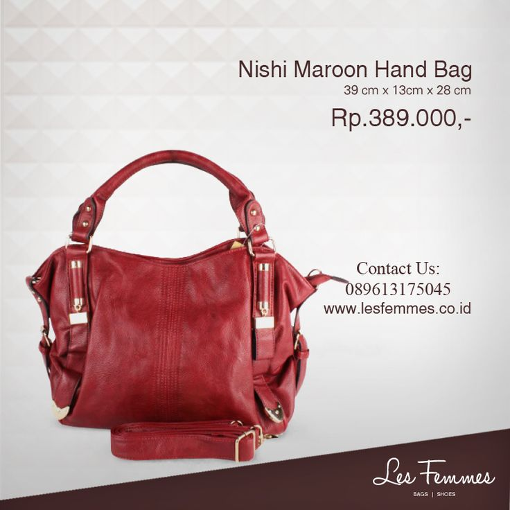 Nishi Maroon Hand Bag 389,000 IDR #Fashion #Woman #bag shop now on http://www.lesfemmes.co.id/hand-bags/nishi-maroon-hand-bag
