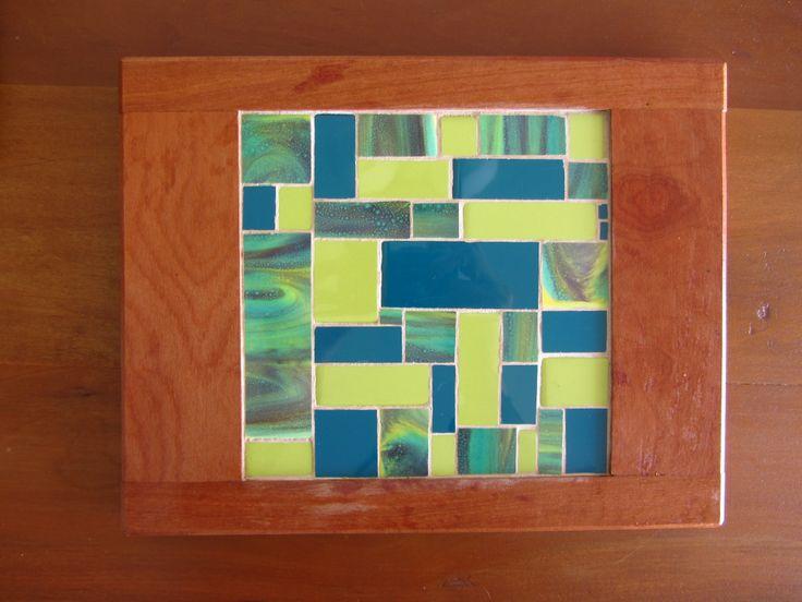 geometric mosaic, mosaico cuadrado, mosaic  cheese board, tabla para quesos