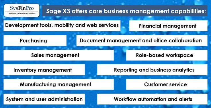 #SysFinPro and #Sage X3 can provide your business with all of these core business management capabilities