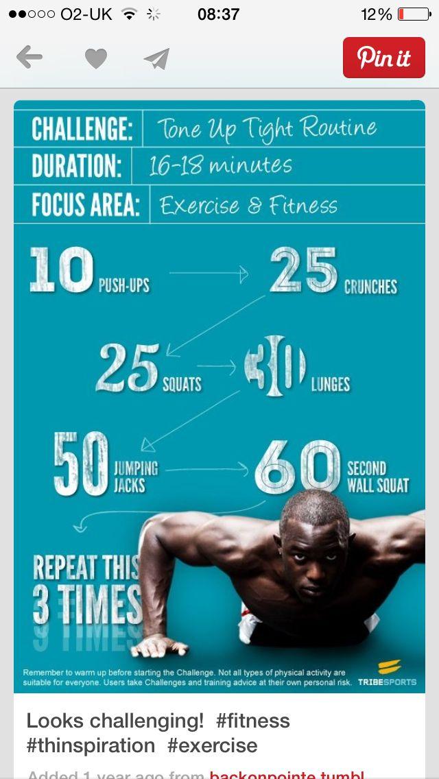 My workout after a run