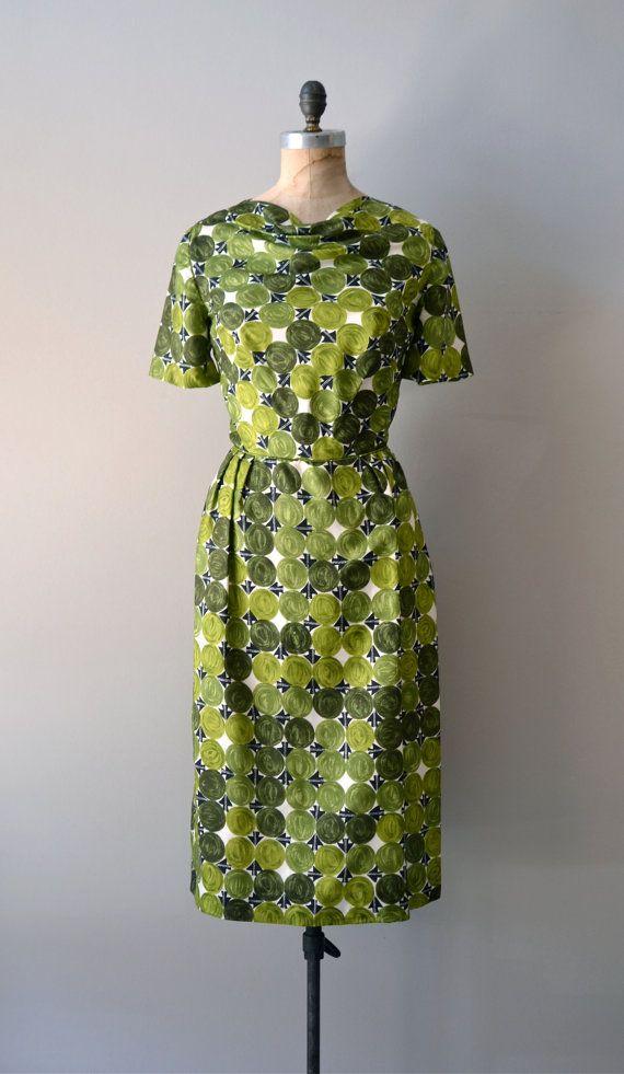1960s dress / silk 60s dress / Painted Landscape by DearGolden, $98.00