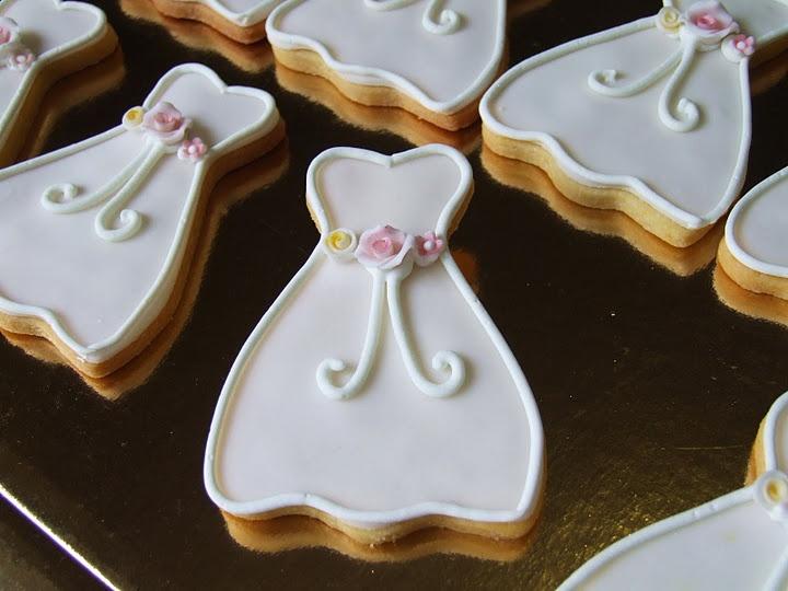 Wedding dress cookies - how fabulous!