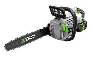Amazon.com : EGO Power+ 14-Inch 56-Volt Lithium-Ion Cordless Chain Saw - 2.0Ah Battery and Charger Kit : Patio, Lawn & Garden