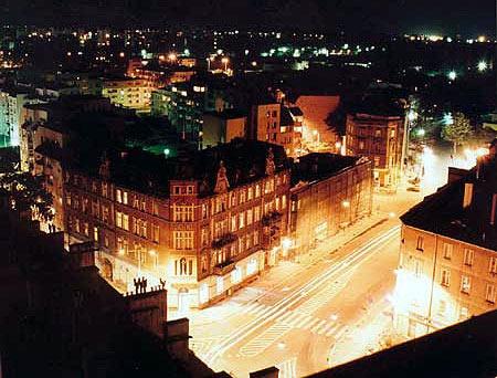 Opole - Poland, by night! Piłsudski Squer
