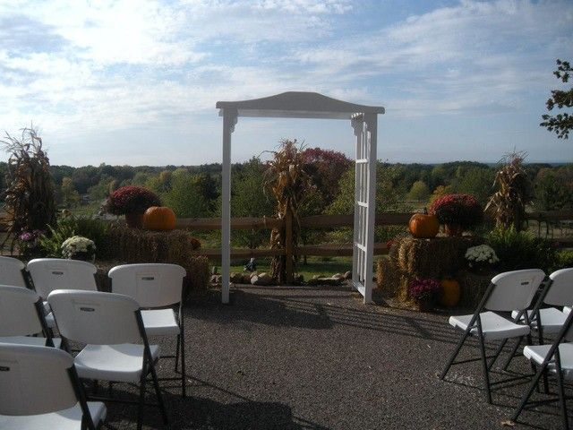 Wedding Ceremony Set Up At Patterson S Fruit Farm Northeast Ohio Fall Foliage Pinterest Venues