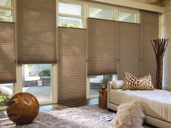 HUNTER DOUGLAS ALUSTRA DUETTE HONEYCOMB SHADES These Cellular Shades Are Great Window Coverings For The Living