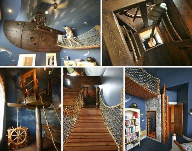 traumhaftes Zimmer für Jungen mit thematischer Gestaltung - Piratenschiff