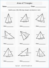 finding area printable grade 5 math worksheet (With images